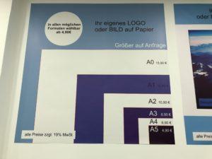 Prestabelle Digitaldruck auf Papier